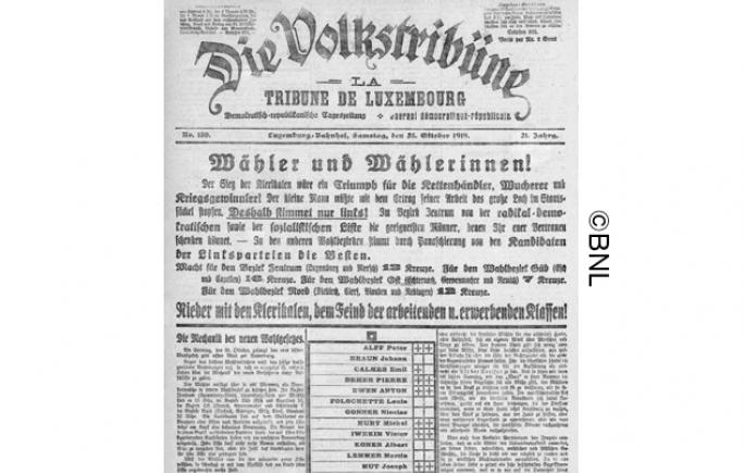 1919_10_23_Volkstribu?ne_CMS_©BNL